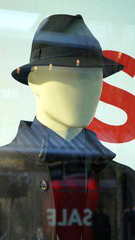 Window, Mirroring, Fashion, Clothing, Hat, Shop, Sale