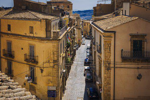 City, Alley, Italy, Road, Sicily, Eng, Historic Center