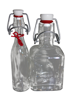 Glass Bottle, Iron Bottle, Drink, Isolated, Transparent