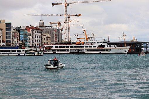 Boat, Ship, Istanbul, Fisherman, Turkey, Blue, Summer