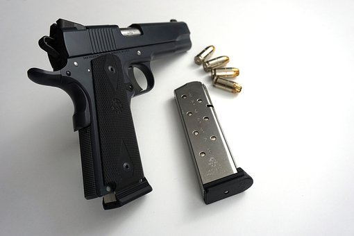 M1911, Pistol, Gun, Firearm, Handgun, Magazine, Ammo