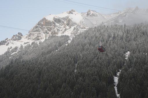 Ariel Ropeway, Cable Car, Männlichen, Forest, Mountain