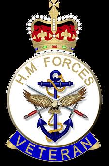 Army, Navy, Raf, Veteran, Emblem, Badge, Military, War