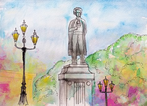 Pushkin, The Poet, Russia, Monument, Poetry, Statue