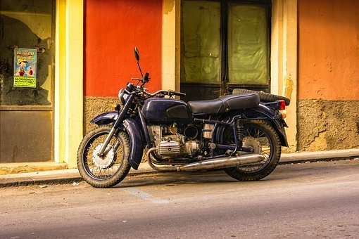 Motorcycle, Old, Two Wheeled Vehicle, Oldtimer, Machine