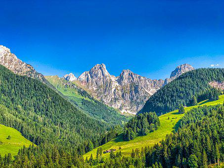 Switzerland, View, Mountains, Panorama, Alpine