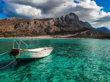 Crete, Greece, Balos Beach, Sea, Nature, Landscape