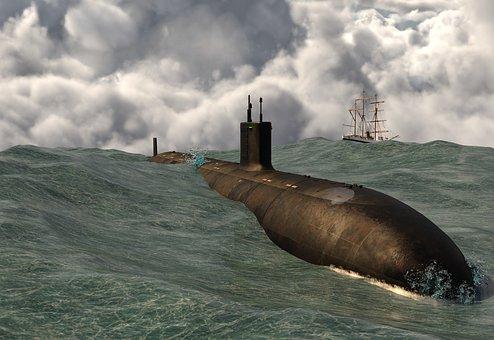U Boat, Boat, Sea, Ocean, Weapon