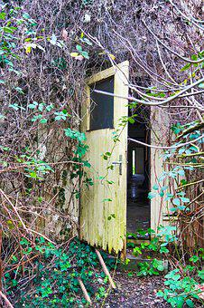 Old Door, Abandoned Place, Old, Building, Lapsed