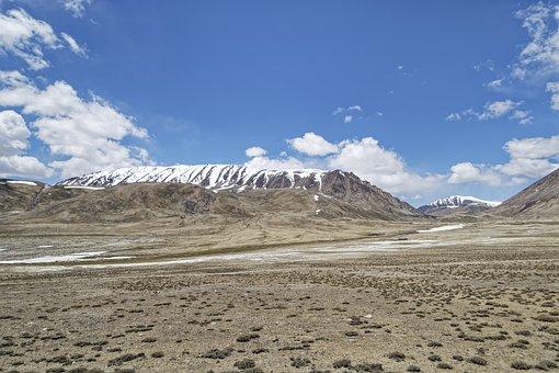 Tajikistan, The Pamir Mountains, Pamir, Plateau, Road
