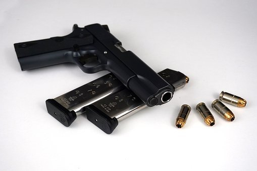 M1911, Pistol, Gun, Firearm, Handgun, Magazine, Ammo