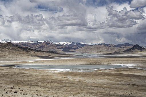 Tajikistan, Salt Lake, Lake Water, The Pamir Mountains