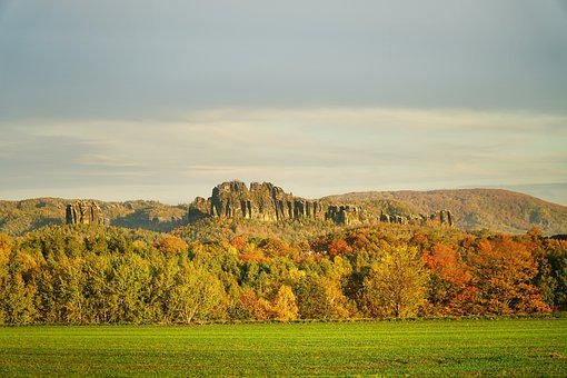 Schrammsteine, Saxon Switzerland, Rathmannsdorf, Height