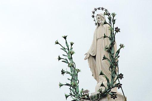 Madonna, Statue, Maria, Religion, Sculpture