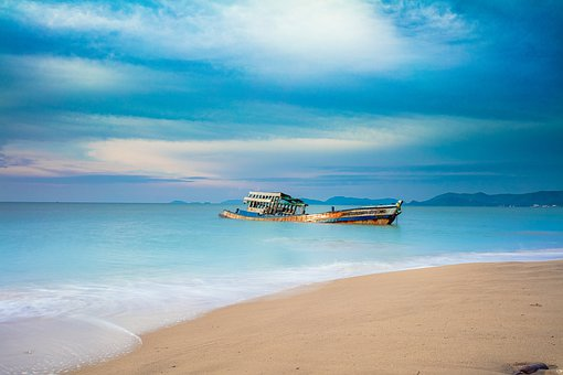 Scenery, Seascape, Beach, Wave, Sky, Nature, Water
