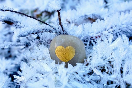 Hoarfrost, Stone, Semi Precious Stone, Golden Heart