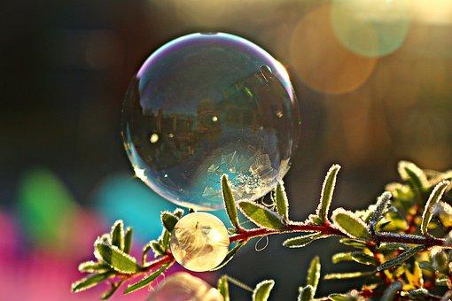 Soap Bubble, Frost Bubble, Ice Bubble, Eiskristalle