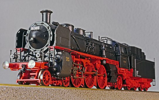 Steam Locomotive, Model, Scale H0, Model Railway