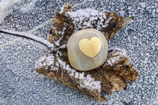 Hoarfrost, Stone, Leaf, Semi Precious Stone
