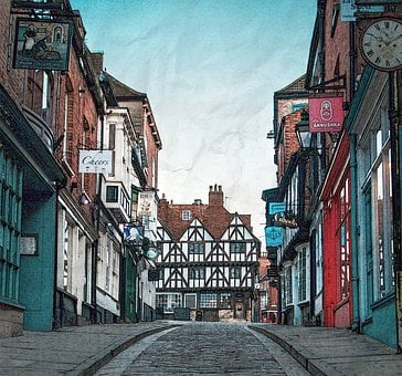 Town Alley, Classic, Structure, Street, Alley, Town
