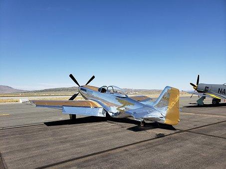 Reno Air Races, Nevada, Airplane, Airport, Tarmac
