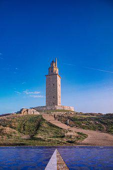 Tower Of Hercules, Tower, Lighthouse, Galicia, Spain