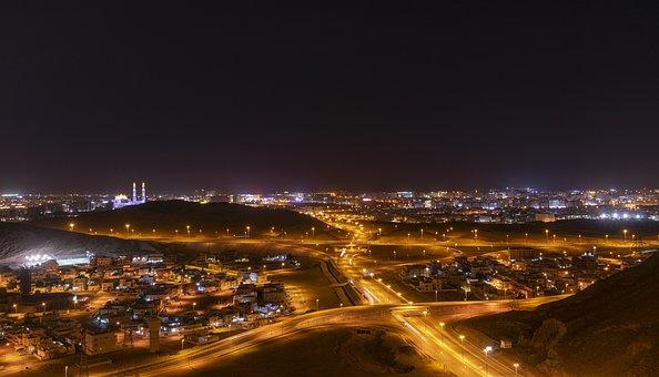 Night, Road, Track, Highway, Motion, City, Street
