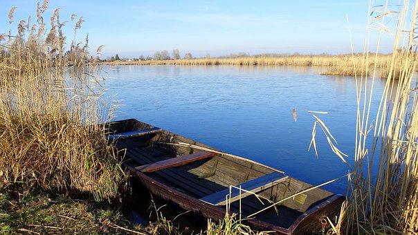 River, Danube, Water, Mood, Hungary, Nature, Boat, Sky