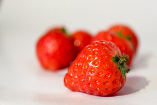 Food, Strawberry, Fruit, Red, White Background, Juicy