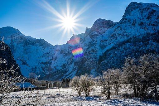 Winter, Snow, Nature, December, Snowfall, Blue