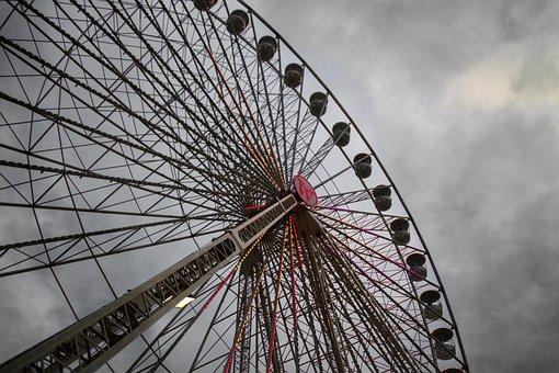 Carousel, Light, Lamps, Fair, Year Market