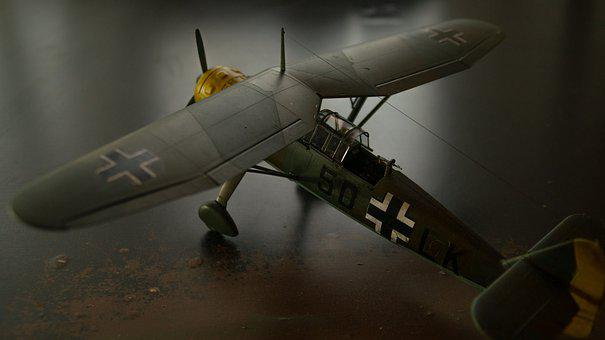 Plastic Model, Airplane, Historical, Ww2, Henschel