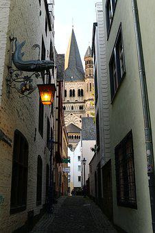 Historic Center, Cologne, Alley, Places Of Interest