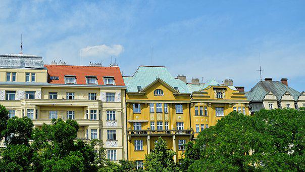 Buildings, Colorful, Prague, Apartments, Czech