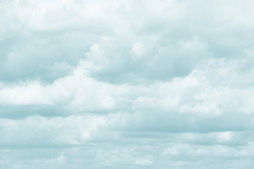 Blue, Cloudy, Sky, Cloud, Minimal, Nature, Background