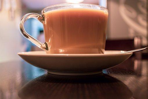 Cup, Tea, Beverage, Closeup, Table, Cafe, Drink