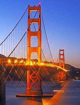 America, San Francisco, Bridge, Usa, California