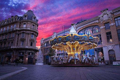 Toulouse, Pink, Rose, City, Ville, Quartier, Chic