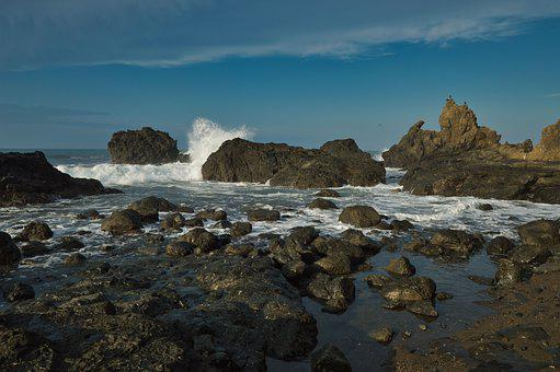 Costa Rica, Landscape, Beach, Sand, Stones, Costa