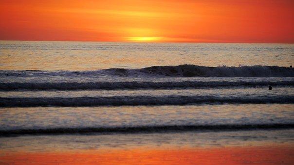 Ocean, Beach, Coast, Costa Rica