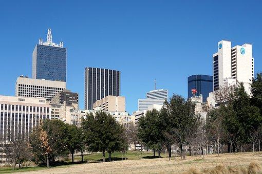 Dallas, Texas, Downtown, Urban, Skyscraper, Buildings