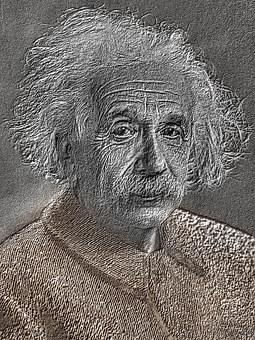 Drawing, Pencil, Albert Einstein, 1921, Portrait