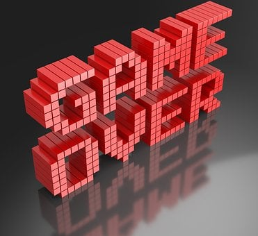 Game Over, Video Game, Final, 3d Render, Finish