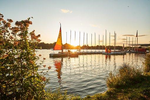Hanover, Lake Maschsee, Lower Saxony, Lake