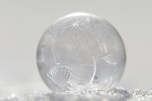 Soap Bubble, Frozen, Winter, Frost, Ice, Cold, Crystals