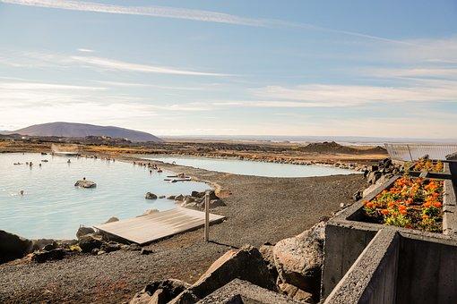 Swimming Pool, Swim, Spa, Thermal Area, Iceland, Pool