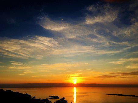Sunset, In The Evening, Nature, Marine, Landscape, Sky