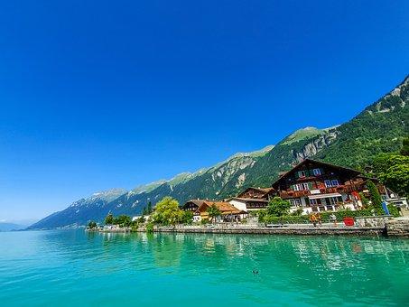 Switzerland, Water, Lake, Nature, Landscape, Scenery