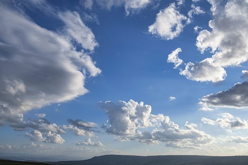Background, Clouds, Sky, Israel, Landscape, Blue