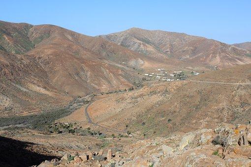 Road, Fuerteventura, Mountains, Island, Atlantic